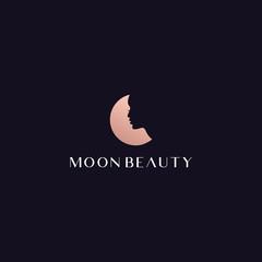 moon beauty logo design