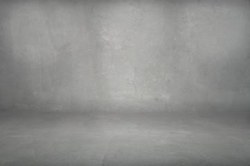 Fototapete - dark grunge cement studio background