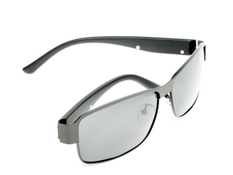 Grey Sunglasses with Metal Frame