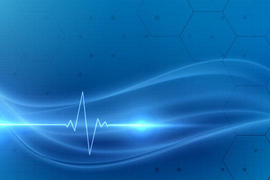 cardio heartbeat medical background design