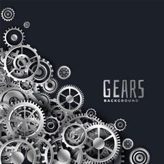 realistic 3d metallic gears background