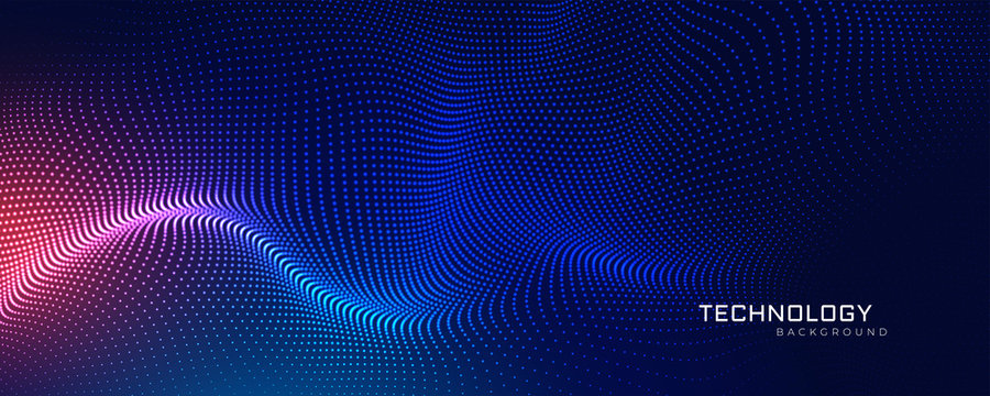 abstract technology particles mesh background