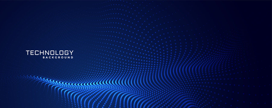 technology particles dots background design