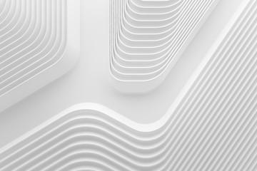 curve line white 3d background .