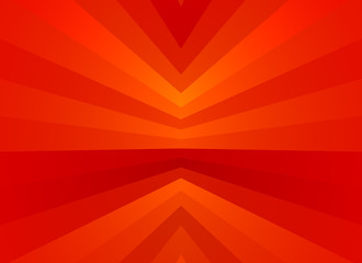 Abstract red background from concentric angular stripes Wall mural