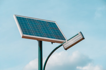 Fotomurales - Modern Public Light Post Powered By Solar Energy