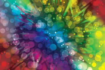 Colorful bokeh effect fine prints background wallpaper
