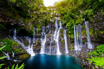 Waterfall of Grand Galet, Langevin, Reunion Island