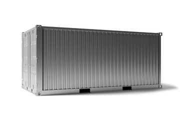 Obraz Mock up of a container on a dock - 3d rendering - fototapety do salonu