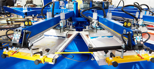 Automatic screen printing machine carousel Fotomurales