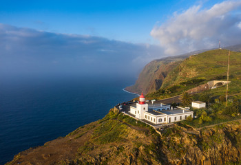 Fototapete - Lighthouse at Ponto do Pargo, Madeira, Portugal
