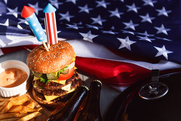 burgers and beer to celebrate independence day america 4th of july