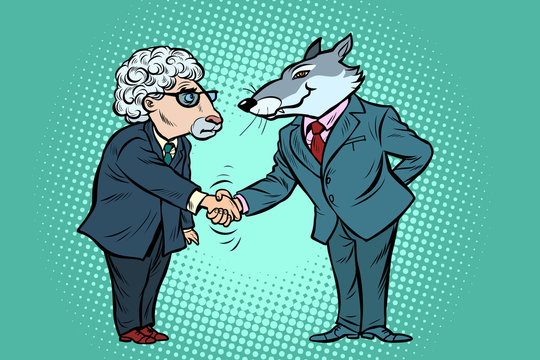 wolf and sheep business negotiations, friendship