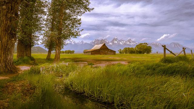 Moulton barn in Grand teton national park wyoming USA,scenic landscape.