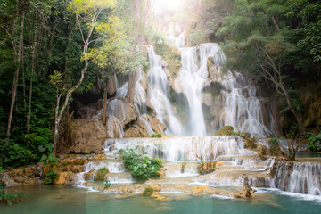 Amazing of beautiful waterfall is natural treatment and healing.