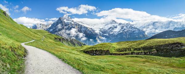 Wall Mural - Wanderurlaub in den Schweizer Alpen bei Grindelwald