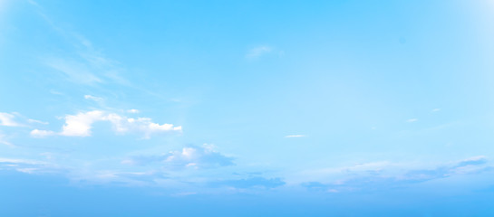beautiful blue sky with white clouds background, Nature background