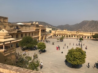 Square of Amber Fort in India