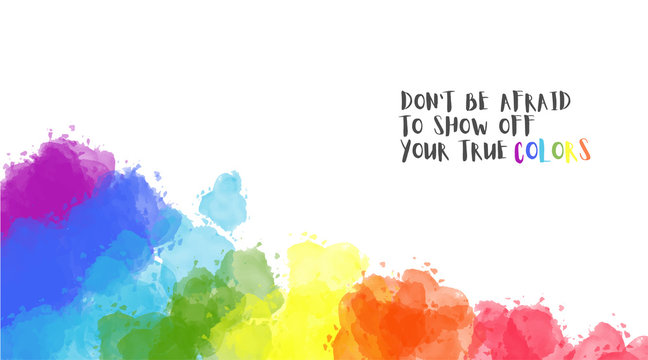 Watercolor Paint rainbow Background, Header or Banner. Watercolor LGBT. Tolerance day card Pride template. Vector illustration. Creative design in EPS10 vector illustration.