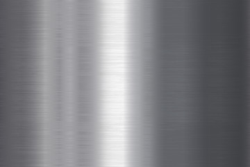 Seamless brushed metal texture. Vector steel background with scratches. Wall mural