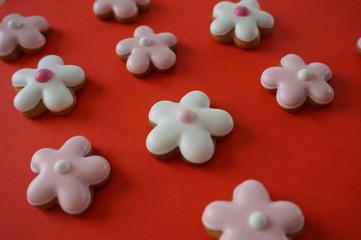 Ginger cookies flower shape