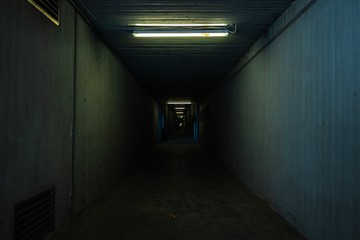 a small and dark tunnel