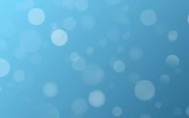 Wall Mural - Light effect blue glares bokeh. Abstract lights bokeh on blue background. Blue gradient. Blurred lights. Snowfall effect. Blurry spots. Vector illustration.