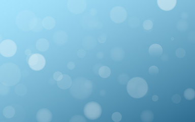 Wall Mural - Light effect blue glares bokeh. Abstract lights bokeh on blue background. Blue gradient. Blurred lights. Snowfall effect. Random blurry spots. Vector illustration.