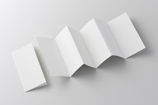 Blank six fold, twelve pages brochure booklet