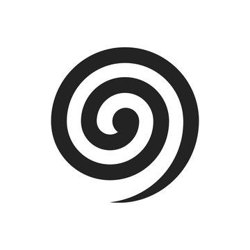 Black spiral illustration. Vector. Isolated.