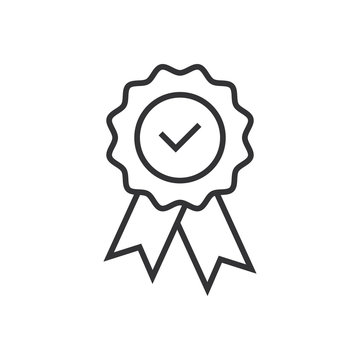 Checkmark tick medal icon. Guaranty  certificat checkmark or tick medal. Approved checkmark medal for approved icon.