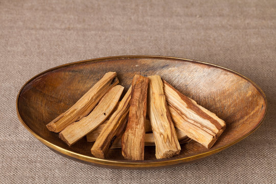 """Bursera graveolens, known in Spanish as Palo Santo (""""holy wood"""") is a wild tree from Latin America. It is used for crafting objects and to produce burning sticks and incense"""