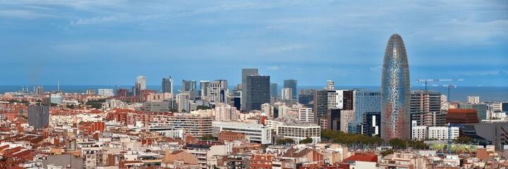 Foto op Canvas Barcelona Barcelona skyline