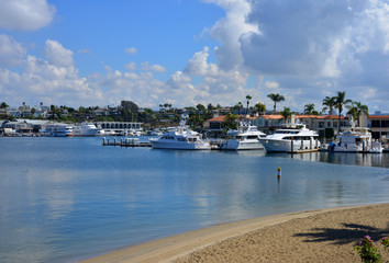 Newport Beach, california, USA, boats and yachts in the port