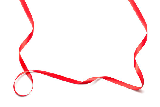 Curled red ribbon. Vector illustration. Ready for your design. Can be used for greeting card, holidays, gifts, magazines and etc. EPS10.