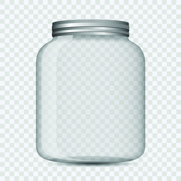 Glass jar isolated vector design illustration