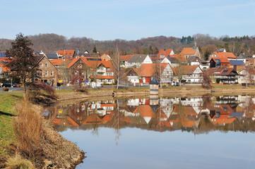 Niederwerbe am Edersee im Winter bei Vollstau