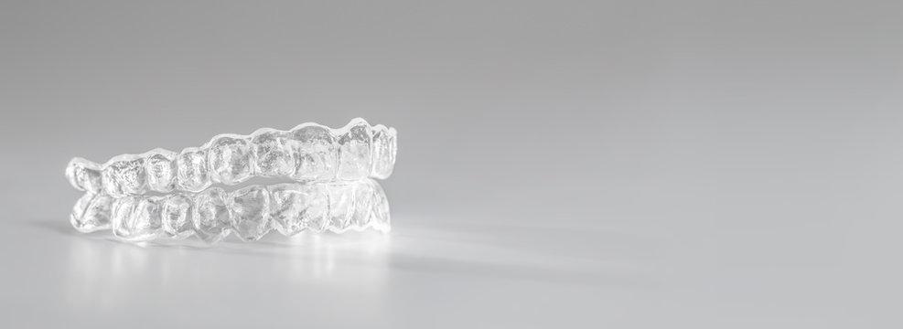 Inivisalign braces or invisible orthodontic aligner.
