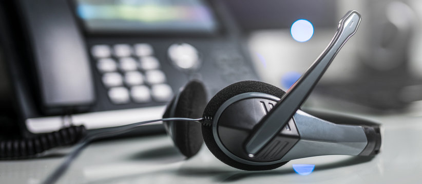 Communication support, call center and customer service help desk.