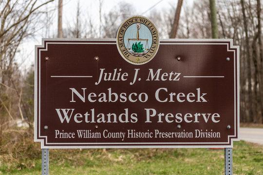 Neabsco Creek Wetlands Preserve Entrance Sign