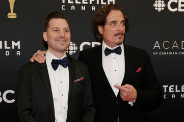 Coates and Montefiore arrive on the red carpet at the 7th annual Canadian Screen Awards in Toronto, Canada
