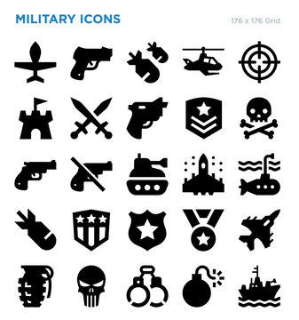 Military Vector Icon Set