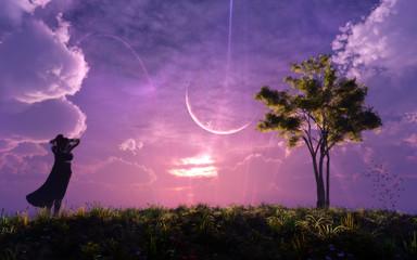 epic majestic fantasy landscape concept artwork