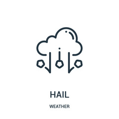 hail icon vector from weather collection. Thin line hail outline icon vector illustration.