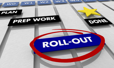 Rollout Implementation Execution Gantt Chart 3d Illustration