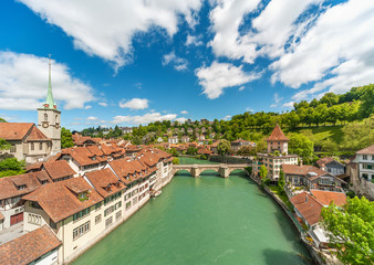 Fotomurales - Historical city Bern, Switzerland. Idyllic landscape of Swiss