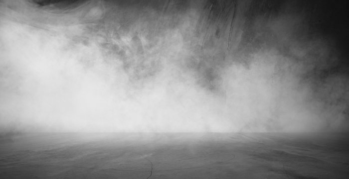 empty dark room abstract fog smoke glow rays wall and floor interior displays product