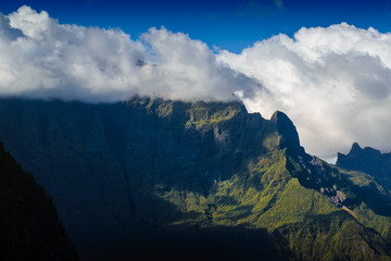 Grand Bénare peak and moutain, Reunion Island