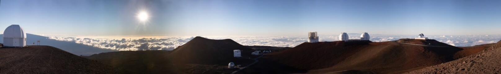 Panorama of all the Observatories of Mauna Kea