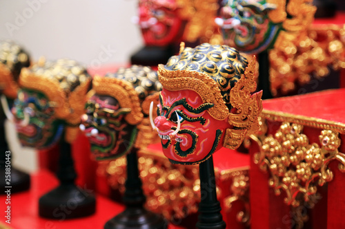 Khon mask (Thailand Heritage Mask) demons charactor mask for Khon